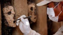 Los ídolos enmascarados que estuvieron 800 años bajo tierra en la mayor ciudad de barro de América
