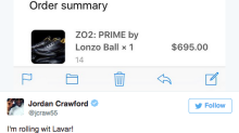 Jordan Crawford is rolling with the Big Baller Brand
