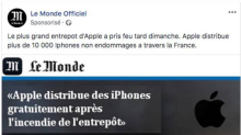 Attention à ce faux site du Monde qui promet des iPhone gratuits