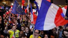 Triumph and tears mark night of French political theatre