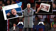 Arsenal and Arsene Wenger become an internet laughing stock after Crystal Palace thrashing