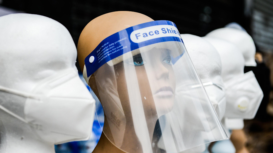 We're used to masks. What about face shields?
