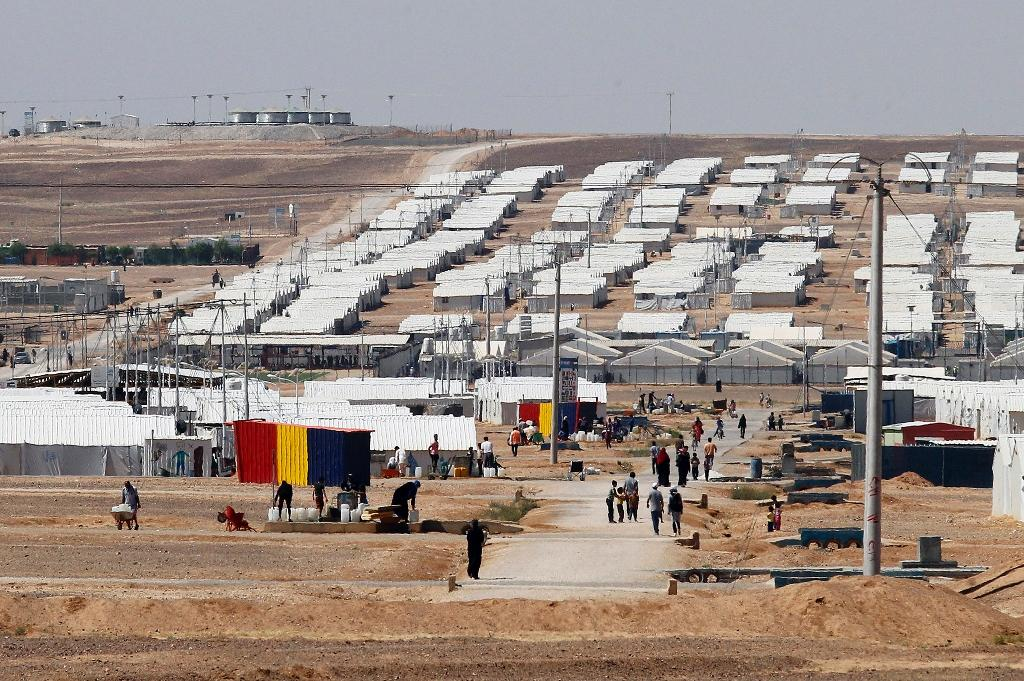 Jordan hosts hundreds of thousands of Syrians who have fled war in their country since 2011 in camps such as this one