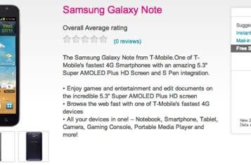 PSA: T-Mobile Galaxy Note now available for your purchasing pleasure