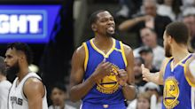 Short-handed Spurs fight, but Kevin Durant carries Warriors to 3-0 lead