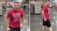 'Back the f*** up': Man's angry outburst after being asked to wear a face mask