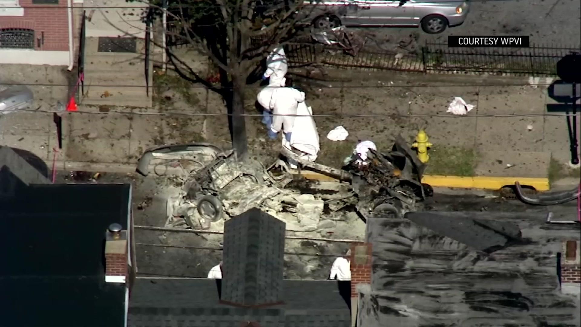 Aerial video shows scene of fatal Pa. car explosion [Video]