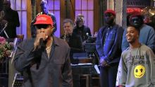 Kanye West Wears MAGA Hat During Surprise Third Performance on 'SNL'