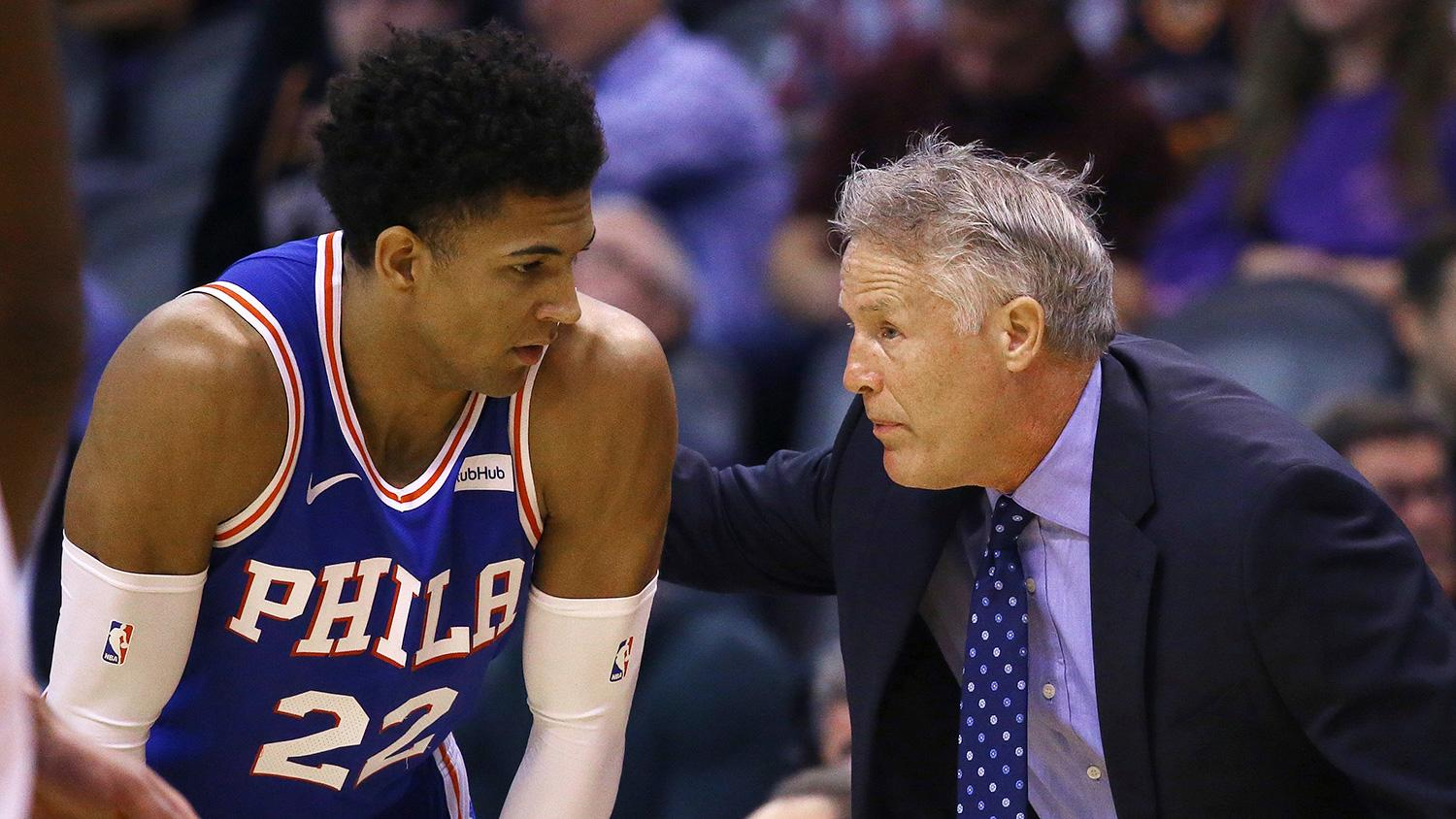 Brett Brown is teaching 'wild' rookie Matisse Thybulle ... and also learning from him