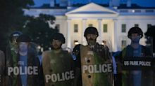 Trump taken to White House bunker as protests raged nearby Friday