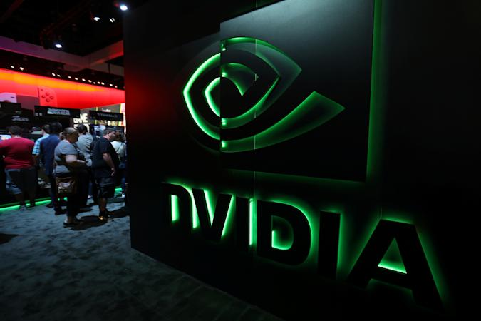 The nVIDIA booth is shown at the E3 2017 Electronic Entertainment Expo in Los Angeles, California, U.S. June 13, 2017.  REUTERS/ Mike Blake