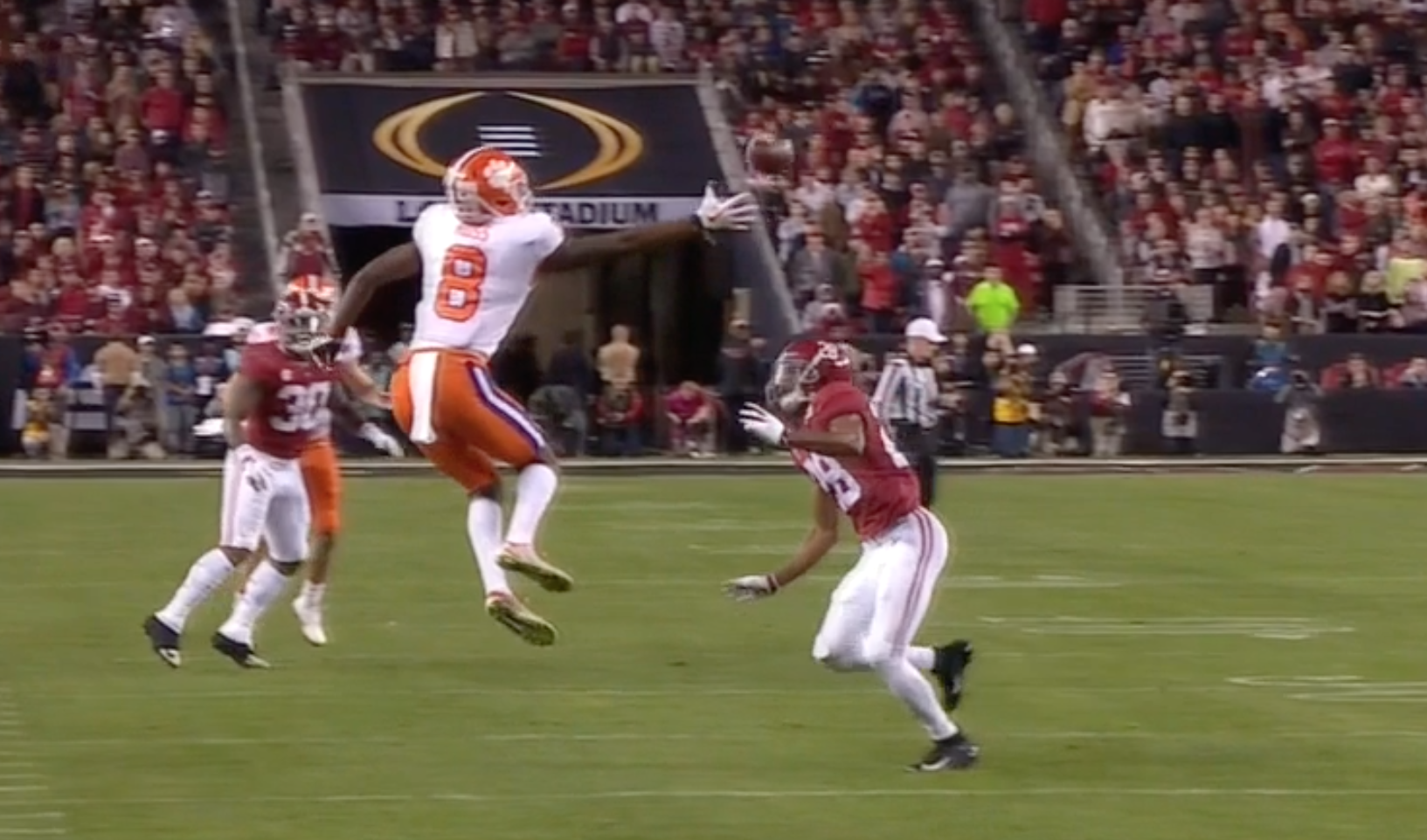 Clemson's Justyn Ross makes crazy catches against Alabama
