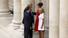 Trump compliments French First Lady's body
