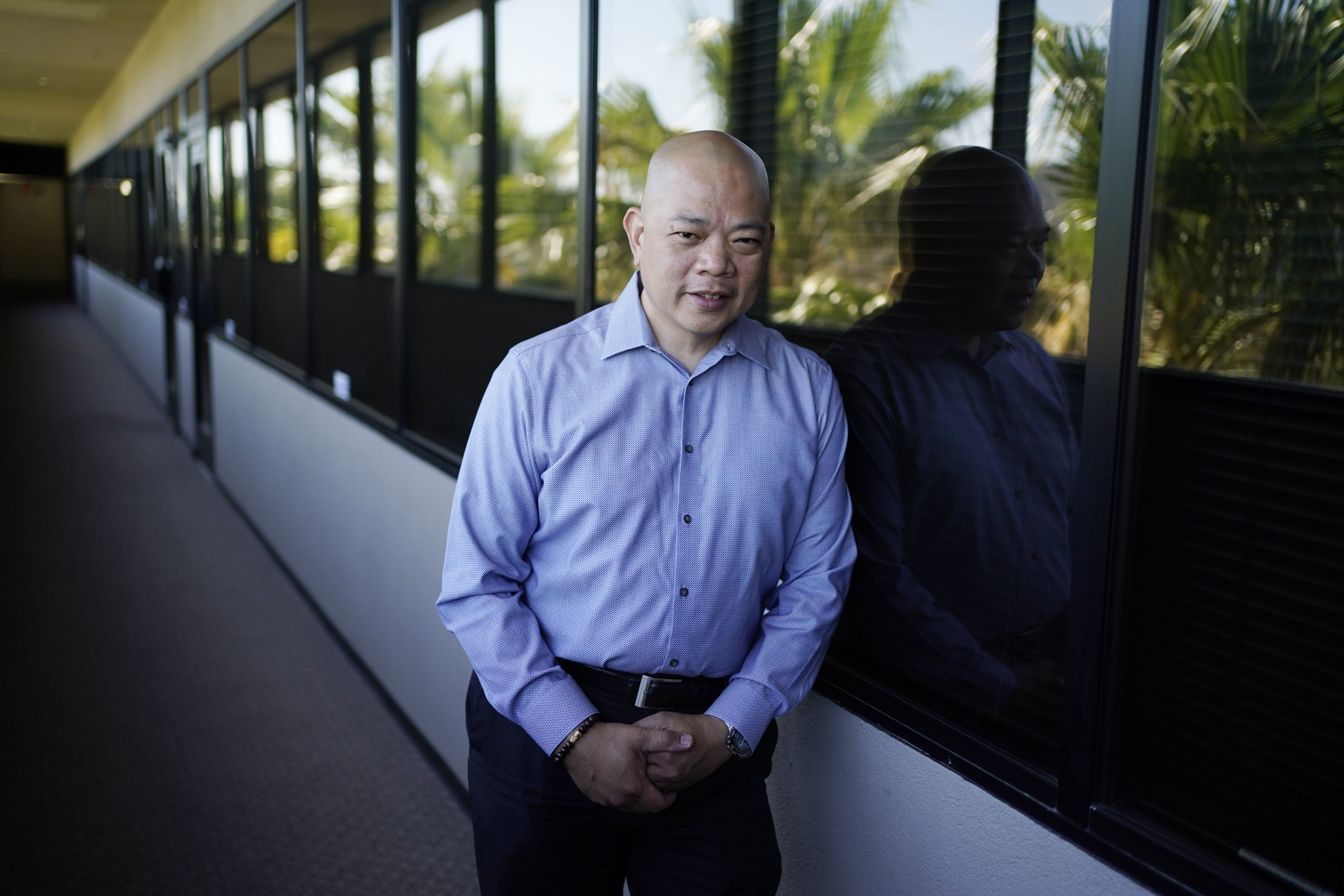 Las Vegas. Vinuya a Filipino American businessman in Las Vegas hasn't decided if he'll vote again for Donald Trump in the battleground state of Nevada