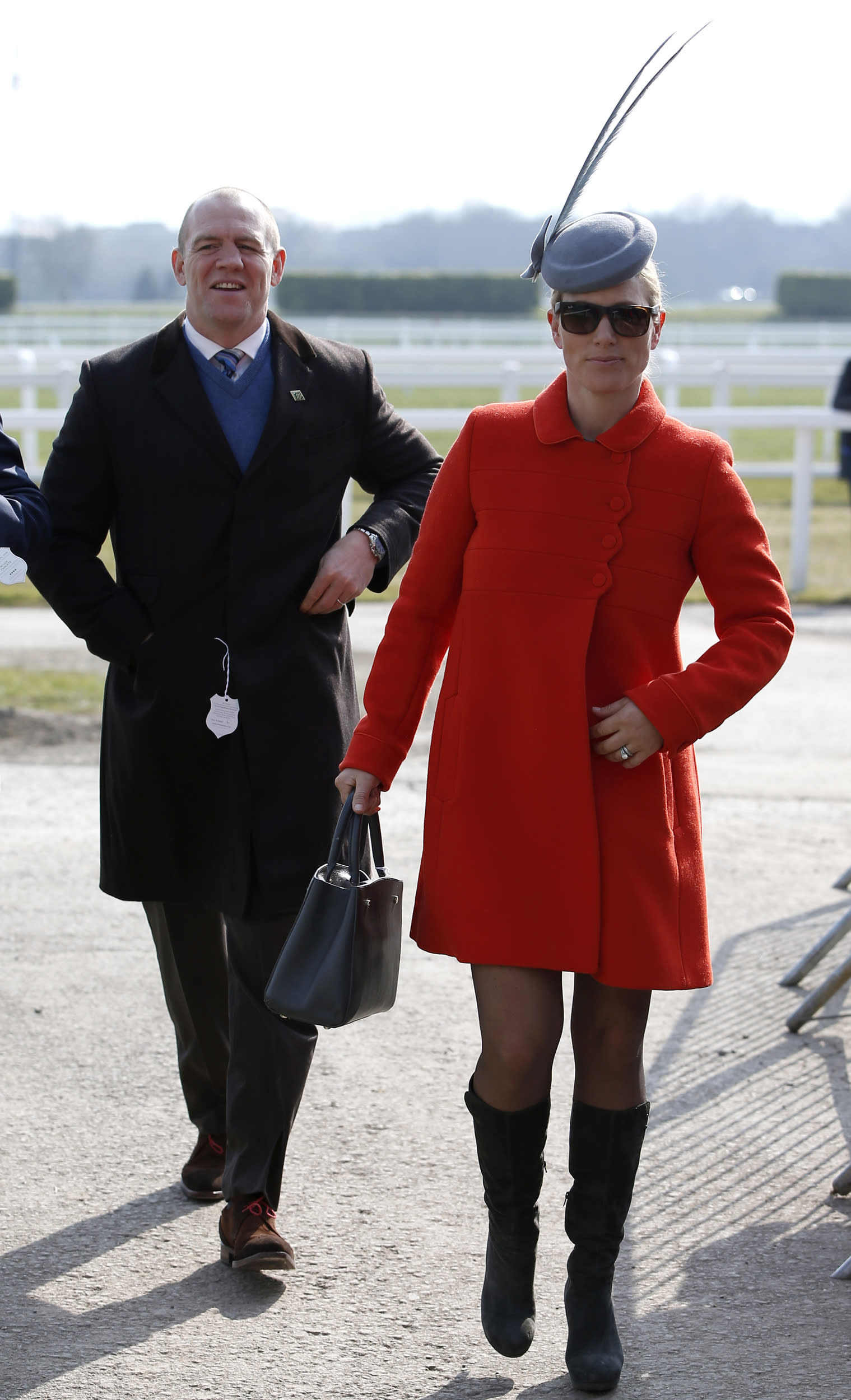 Horse Racing - Cheltenham Festival - Cheltenham Racecourse - 17/3/16 Zara Phillips arrives at Cheltenham with her husband Mike Tindall  Action Images via Reuters / Paul Childs Livepic EDITORIAL USE ONLY.