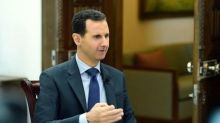 "Syria's Assad says Israel ""supporting terrorists"" by striking his army"