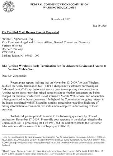 FCC gives Verizon the third degree over $350 'advanced device' ETF