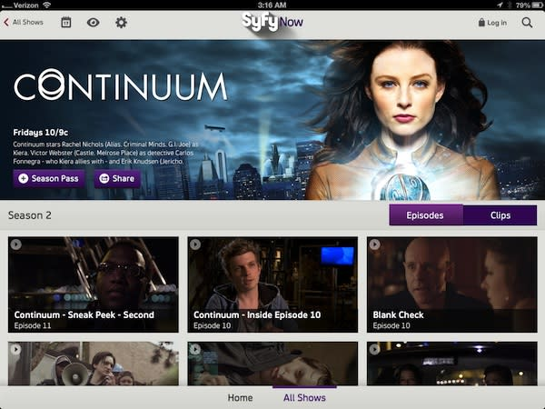 Syfy Now app streams full episodes to iOS today, Android next month