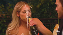 Champagne explosion goes embarrassingly wrong on 'The Bachelor'
