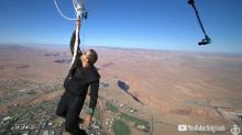 David Blaine Successfully Pulls Off – and Safely Lands From – 'Ascension' Stunt (Video)