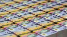 U.S. dollar inches higher, as Aussie trades at lowest since early 2016