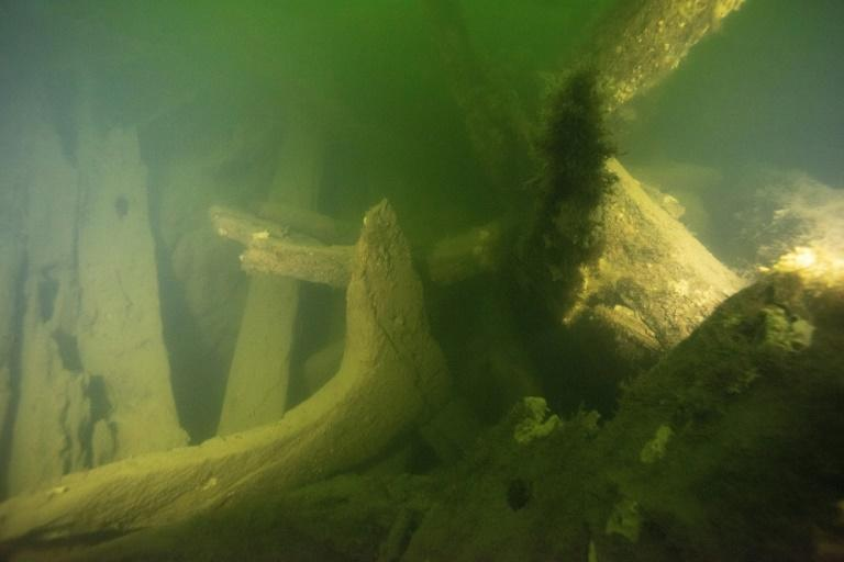 Pictures released by the Swedish National Maritime and Transport Museums show parts of the wrecks found in the waters outside Stockholm archipelago (AFP Photo/STR)
