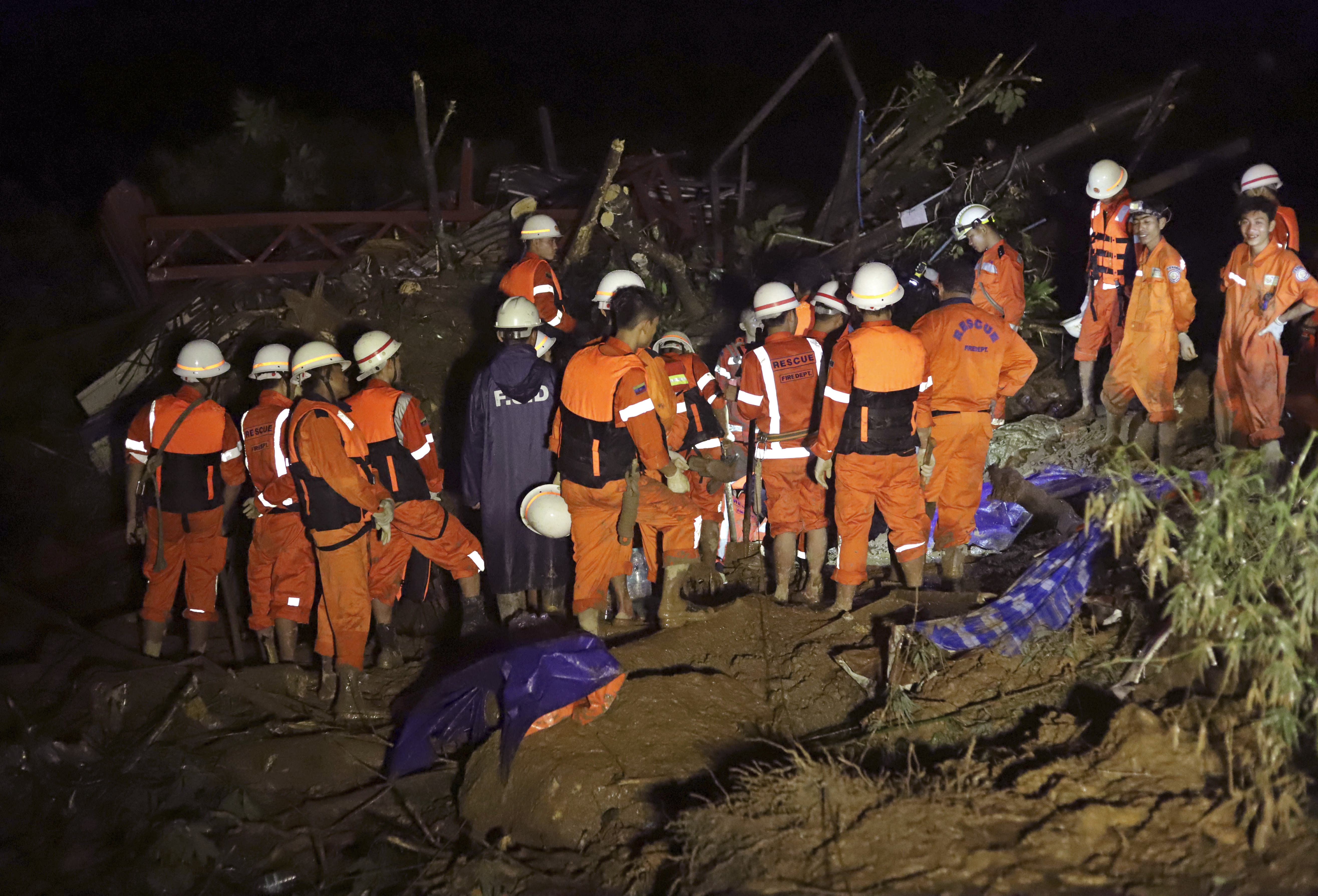 Myanmar: At least 34 killed, scores feared missing in landslide