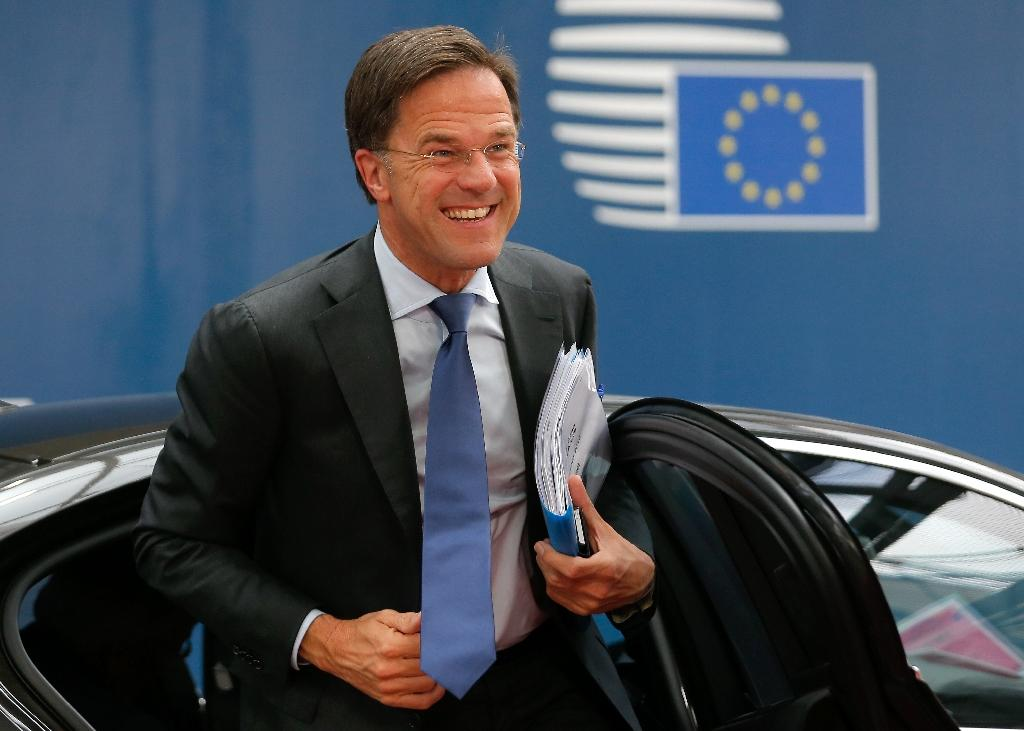 """Dutch Prime Minister Mark Rutte said his country's foreign ministry would be seeking an explanation after his Malaysian counterpart's comments, which he said sowed """"confusion"""" (AFP Photo/JULIEN WARNAND)"""