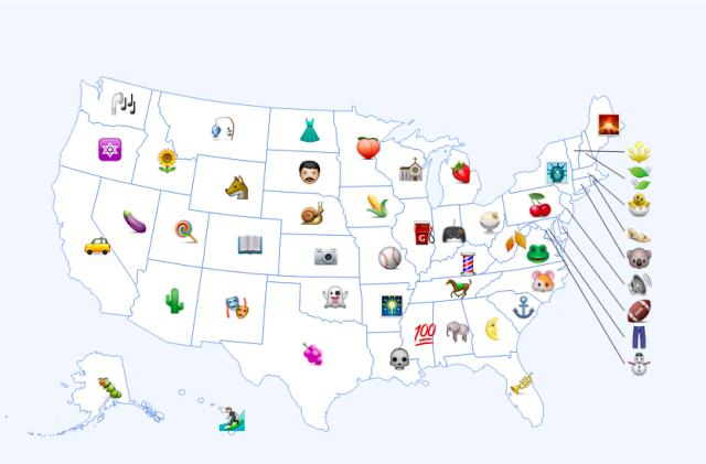 Here are the most popular emojis by state (kind of)