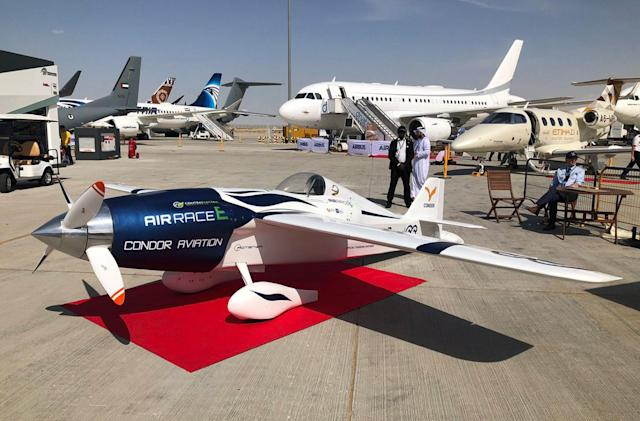 Air racing tournament unveils an all-electric sports aircraft