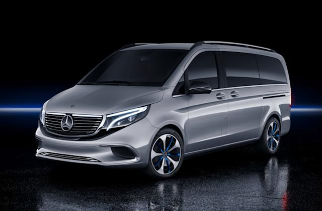 Mercedes' Concept EQV can transport 8 passengers with its 249 mile range