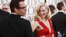 January Jones recycles plunging Versace gown from 2011 Golden Globes