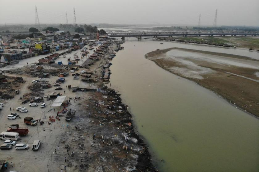 The bodies of suspected COVID-19 victims are turning up in Indian rivers