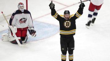Bruins snag Game 1 over Jackets in OT