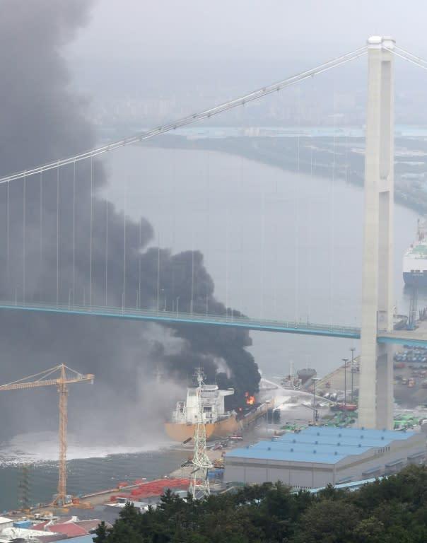 Fire on oil tankers at South Korean port injures nine: Yonhap