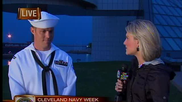 6am: Cleveland Navy Week interview with sailor
