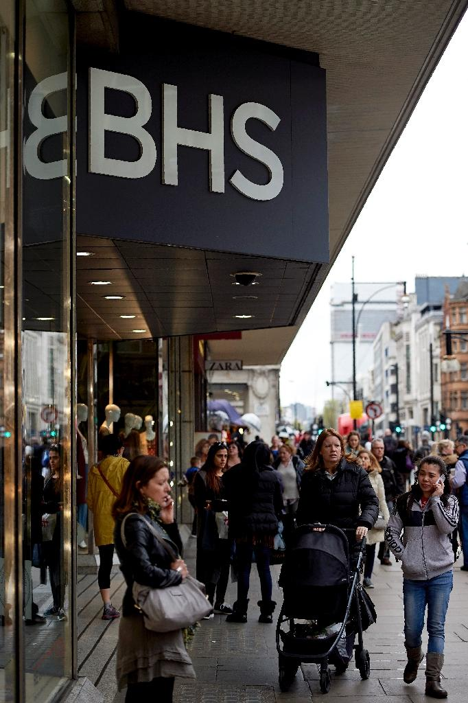 BHS, which sells clothing, food and homeware, has failed to keep pace with traditional rivals such as Marks & Spencer and online giants like Amazon, resulting in a major loss of market share (AFP Photo/Niklas Halle'N)