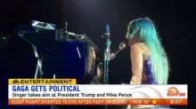Lady Gaga takes aim at President Trump and Mike Pence