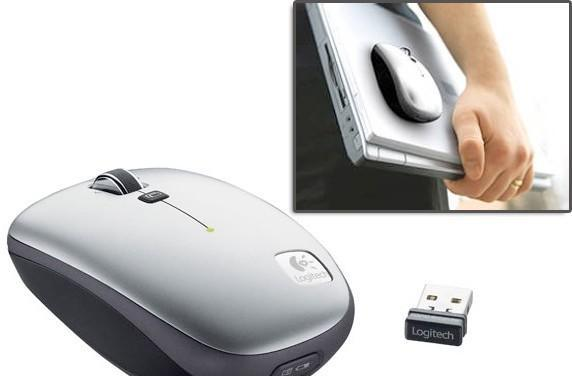 Logitech's V550 Nano Clip-and-Go Mouse with 18 months of go at a clip