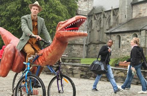 Inhabitat's Week in Green: dinosaur bicycle, 3D-printed shoes and a lightning-proof dress