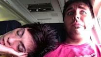 Stranger Falls Asleep on Fellow Airplane Passenger