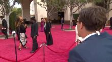 'Who's this guy?': Sunrise star's Oscars red carpet run-in