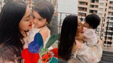 Tara Jay Bhanushali Loves Mommy, Mahhi Vij's Lipstick, Tries To Eat It As She Gives A Peck