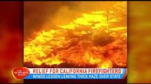 Calmer weather allowing firefighters to control California blaze