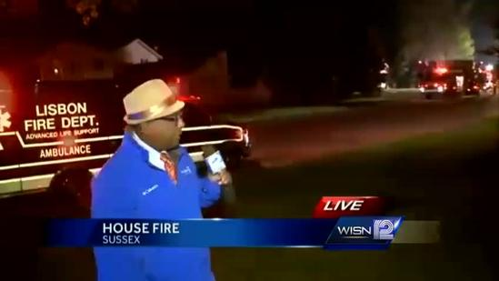 Witness hears explosion on Sunset Drive