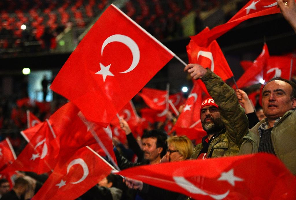 """Turkey has been riled by German authorities' refusal to allow some Turkish ministers to campaign in the country for a """"yes"""" vote ahead of the April 16 referendum"""