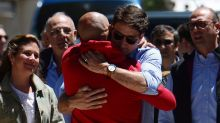 Justin Trudeau visits earthquake-damaged town in Italy