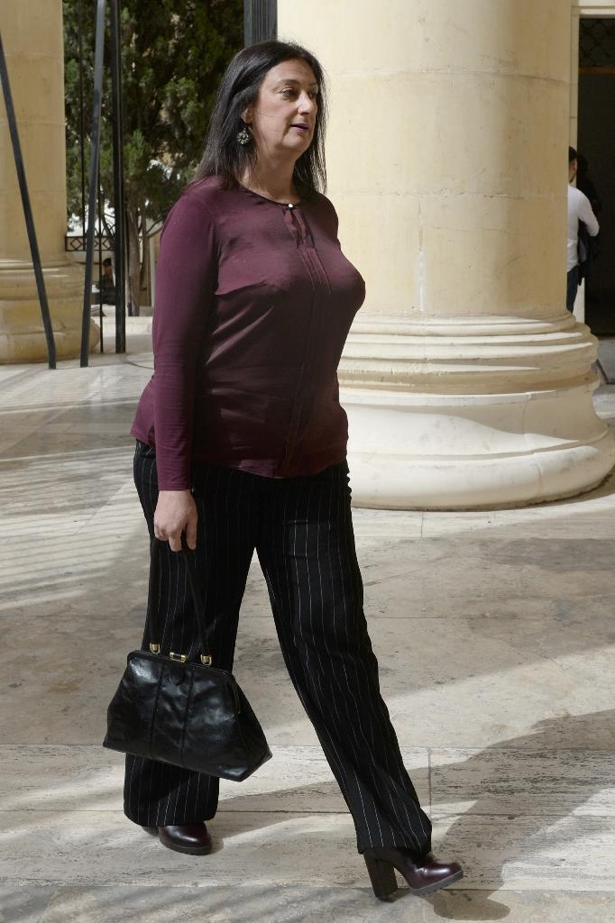 """Journalist and blogger Daphne Caruana Galizia was often described as a """"one-woman Wikileaks"""" (AFP Photo/Matthew Mirabelli)"""