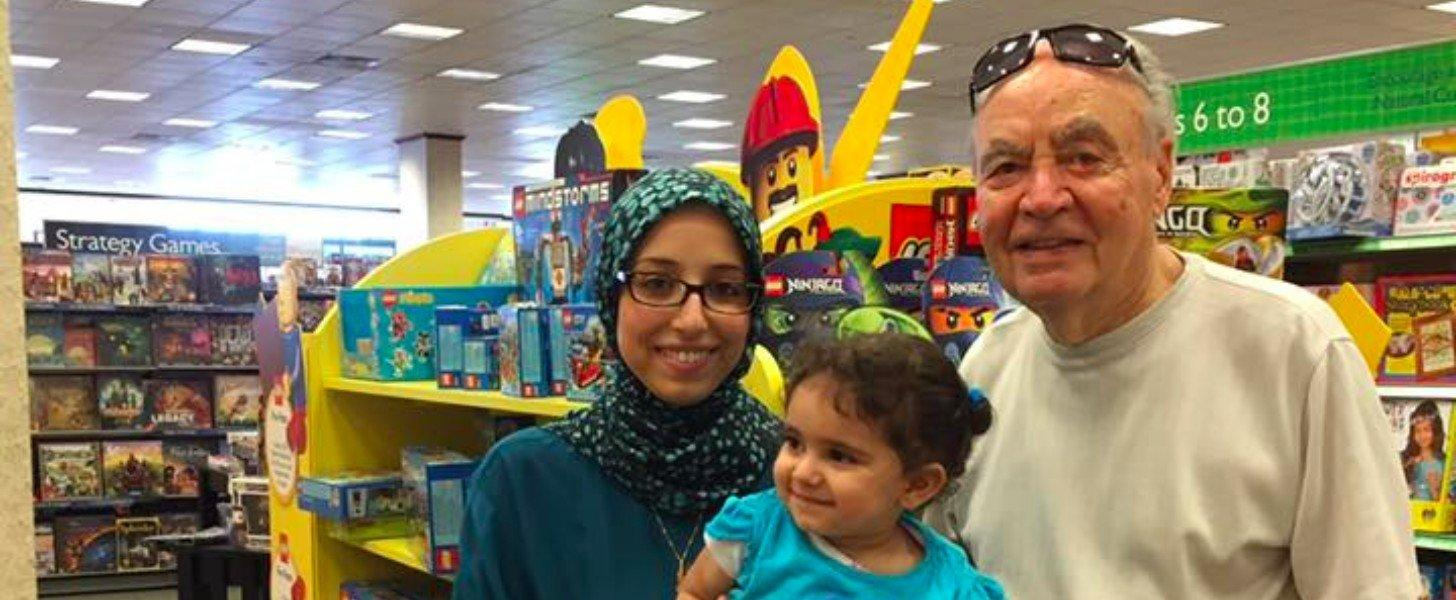 A 90-Year-Old Man's Words to a Muslim Mother Were Entirely Unexpected