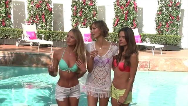 Victoria's Secret Models Lily Aldridge and Adriana Lima Look Sexy at Beach Shoot
